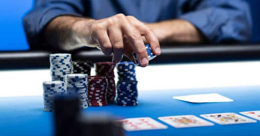 poker player chips bet