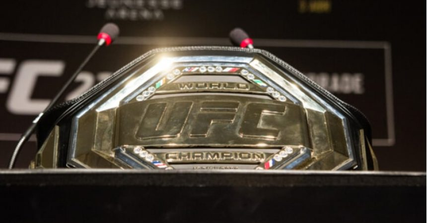 ufc belt on table