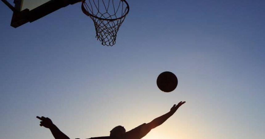 basketball rebound silhouette